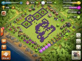 War clash of clans town hall 7 base