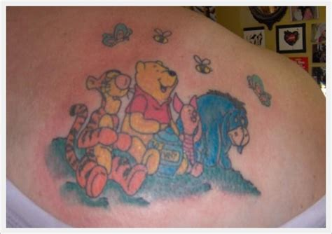 winnie the pooh tattoos designs winnie the pooh on back busbones