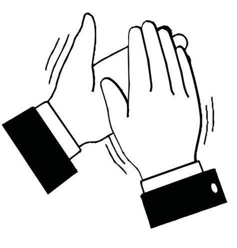coloring pages of clapping hands free coloring pages of clapping hands