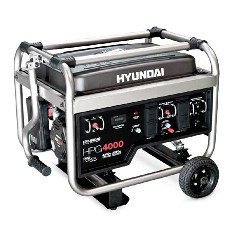 hyundai 4 000 watt gasoline powered portable generator