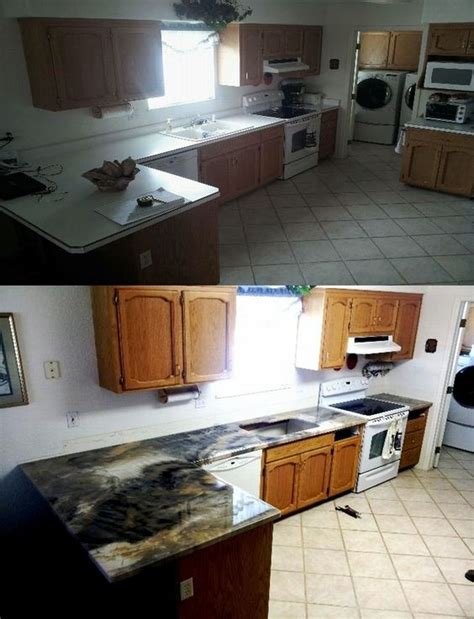 before and after do it yourself epoxy countertops