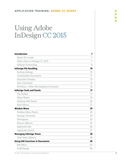 tutorial indesign cc 2015 using adobe indesign cc 2015 technology for publishing llc