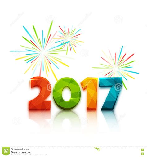 new year illustrator vector happy new year 2017 text design vector illustration