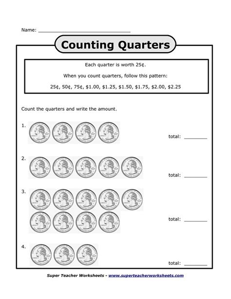 printable quarter worksheets counting quarters worksheets bing images homeschool