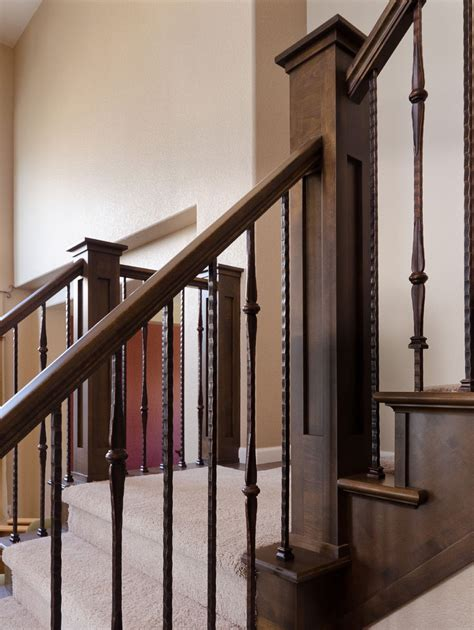 Metal Banister by Stairway Wrought Iron Balusters Wrought Iron Balusters