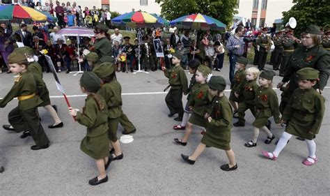 St Kidos Army kid parade in russia