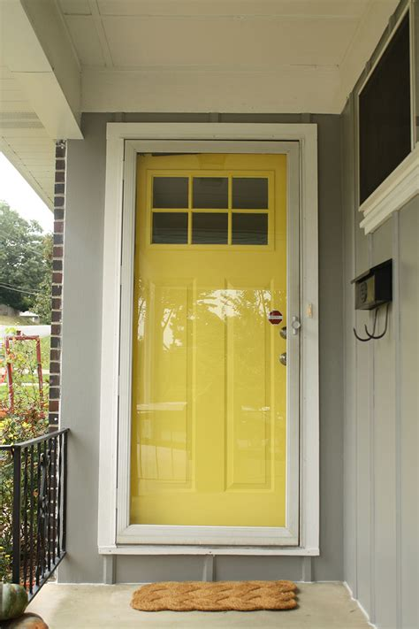 colored doors yellow door rosemary on the tv
