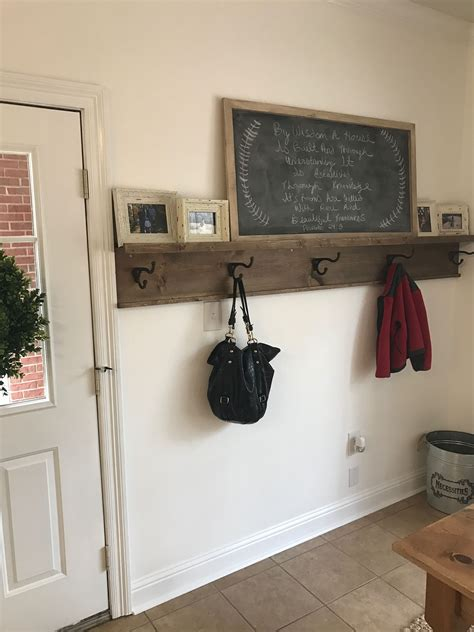 diy entryway coat rack  picture ledge shelf  needed