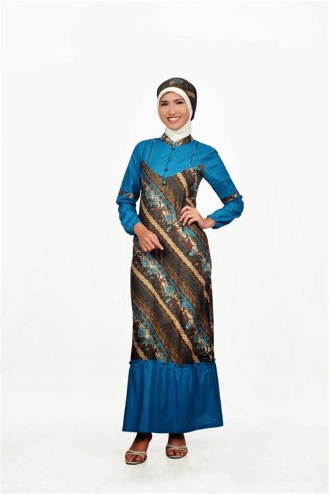 model baju gamis batik remaja trend  gaya