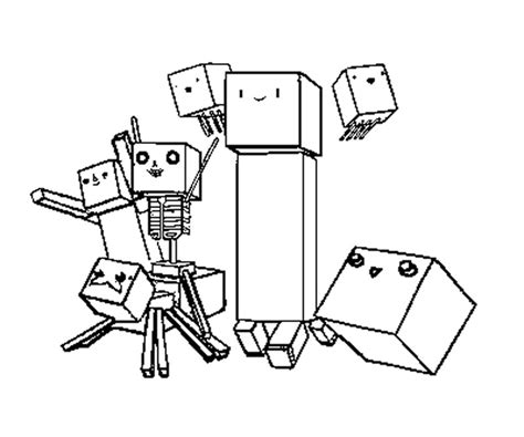 minecraft coloring pages all mobs free all the minecraft mobs coloring pages