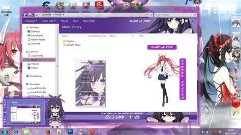 download theme windows 7 yoshino date a live theme windows 7 date a live yatogami tohka