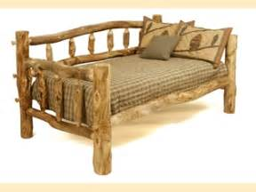 Log Daybed Furniture Aspen Log Daybed Southern Creek Rustic Furnishings