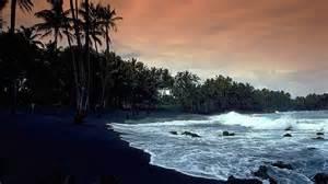 black sand hawaii panoramio photo of punalu u black sand beach hawaii 1989