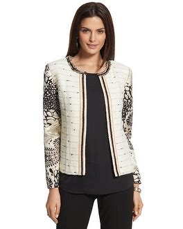 ann hayward chicos versailles sleeve pattern jacket now on sale for 62 99