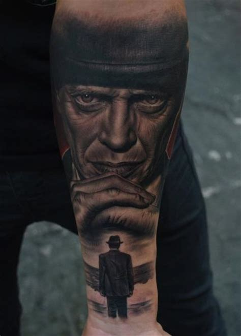 steve buscemi tattoo arm portrait realistic steve buscemi by fredy