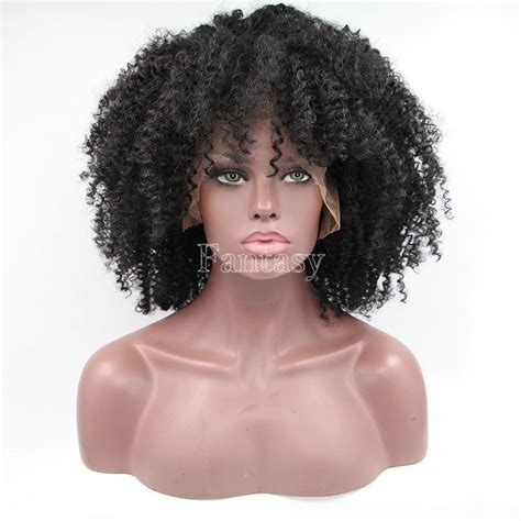 kinky curly short weaves for black woman stock premium afro kinky curly synthetic wig short black