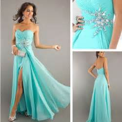 cyan high low prom dresses adorable clothes