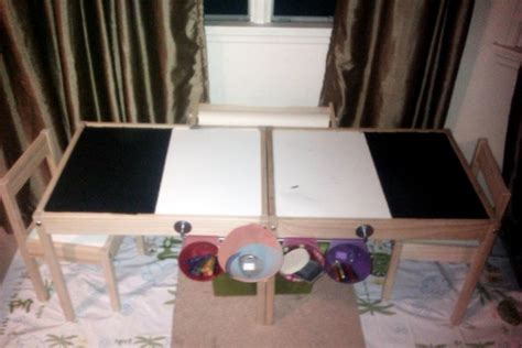 childrens arts crafts table ikea hackers