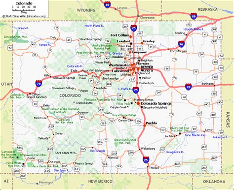 detailed map of colorado usa road map of colorado state colorado state road map