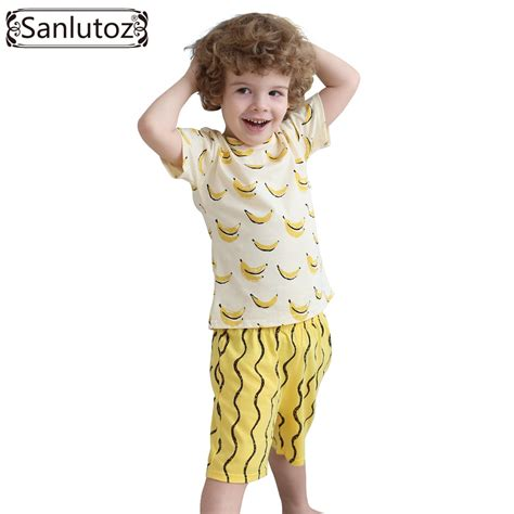 C788 Kid Cotton Fashion Set boys clothing set cotton clothes summer children clothing set for boys sport suits banana