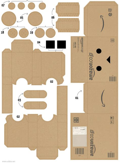 Papercraft Pattern - danboard papercraft 01 by zarzamorita on deviantart
