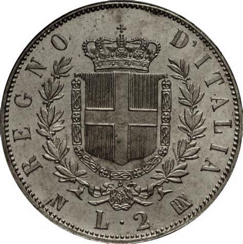 d italia valute 2 lire vittorio emanuele ii italy numista