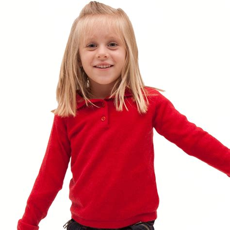 Personalised Wall Stickers For Kids cashmere polo shirt in red