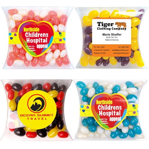 Jelly Mini 008 jelly beans corporate colours 90 gram pillow pack fast confectionery