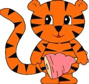 Tiger Paper Plate Craft - tigers crafts