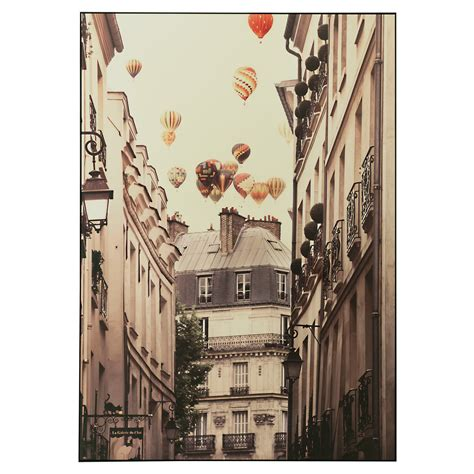 ikea art vilshult picture flying over paris 100x140 cm ikea