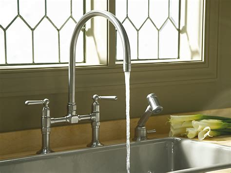 Deck Mount Kitchen Faucet by K 7337 4 Hirise Deck Mount Bridge Kitchen Sink Faucet