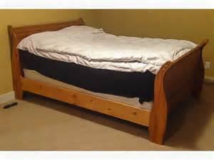 Queen Sleigh Bed Frame Solid Pine Sleigh Bed Frame Queen Size Saanich Victoria