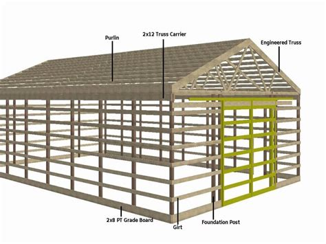 Pole Barn Building Plans by Pole Barn Plans And Designs 30x40 Studio Design