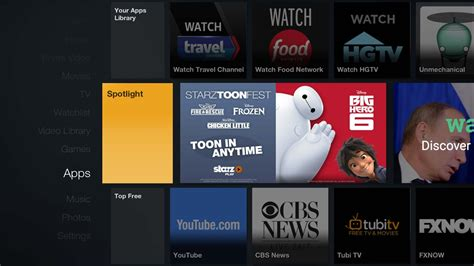 spotlight section food network hgtv and travel channel apps make brief