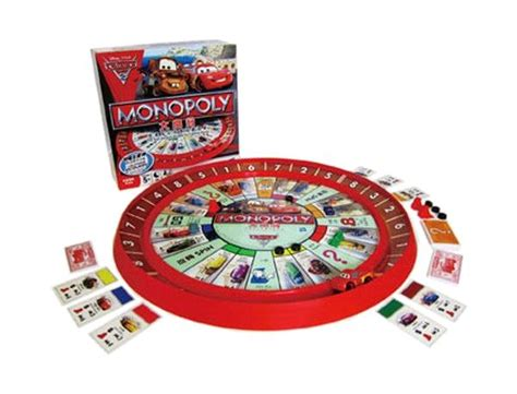 Monopoli Cars Mainan Board mb monopoly cars 2 lightning mcqueen rack track