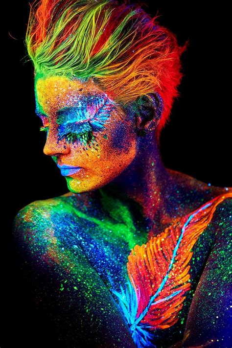 psychedelic trance body art photography