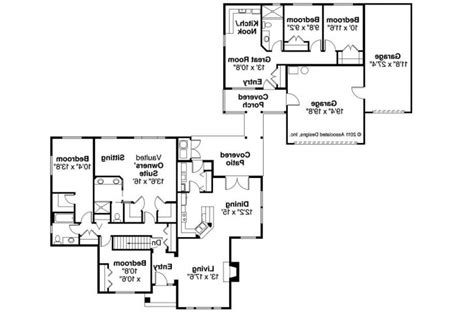 house plans with inlaw apartment small guest house plan floor lyme regis ranch darington 30