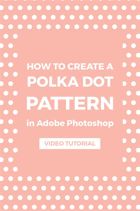 pattern maker photoshop cc 2017 create a polka dot pattern in photoshop elan creative co