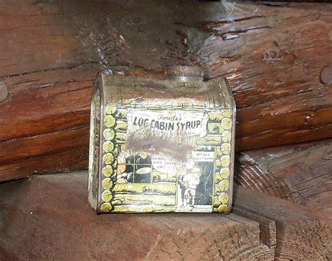 vintage log cabin syrup tin circa  collectors weekly