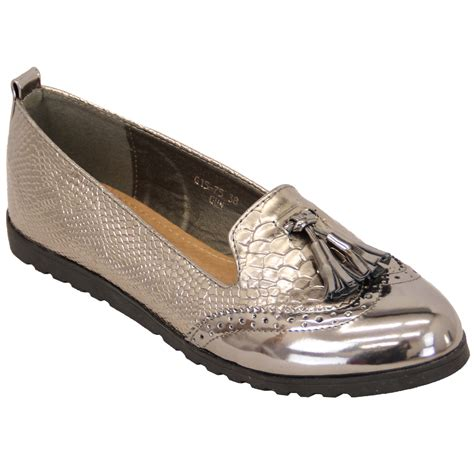 womens loafers shoes loafers shoes womens slip on fringe pumps glitter