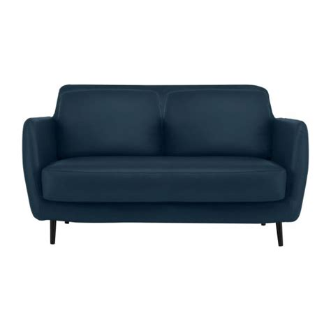 Pigmented Leather Sofa Ella Sofas 2 Seat Sofa Petrol Blue Leather Habitat