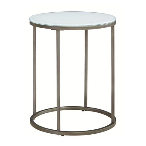 frosted glass end table casana alana frosted glass top end table living room