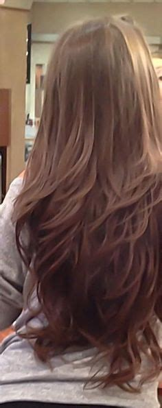 how to make perimeter layers in a straight line long layered haircuts back view v cut layers on pinterest