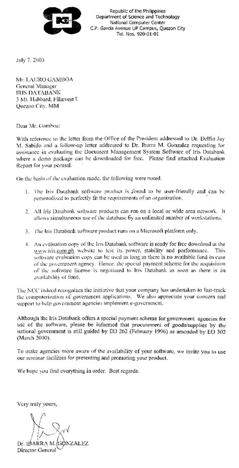Evaluation Report Letter Evaluation Cover Letter