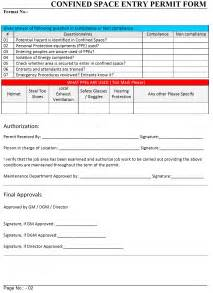 confined space template confined space entry permit form like success