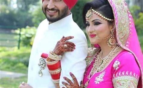 marriage pics of jassi gill with wife jassi gill is now a married man bhangra newz