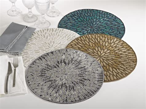 Gift And Home Decor Trade Shows by Saro 3517 Jaipur Placemats