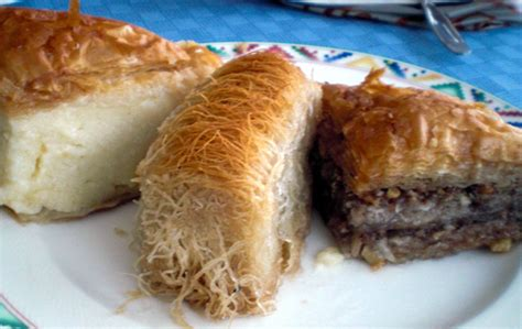 griechische kuchen galaktoboureko kataifi