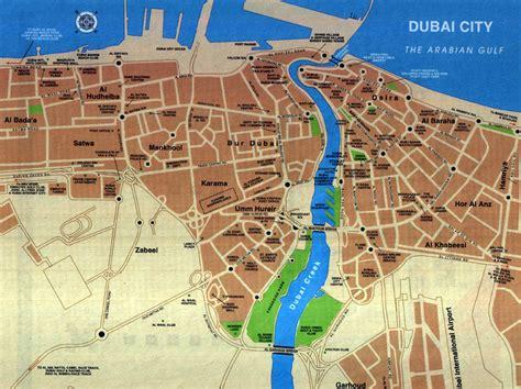 uae road map detailed road map of dubai city dubai city detailed road