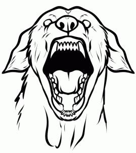 guard dog coloring page how to draw a guard dog step by step pets animals free